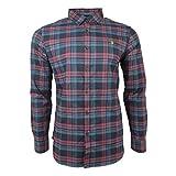 Farah Vintage Herren Radley Check Langarmshirt Farah Rot M