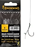Browning Braid Feeder Leader Method bronze Gr.8 Boilie Needle