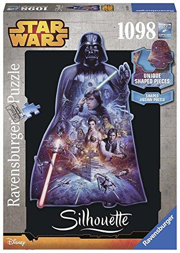 Ravensburger 16158 - Star Wars, Darth Vader, 1098 Silhouette (Star Wars Puzzle)