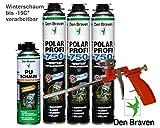 Premium-Set 3x Polar Winterschaum Pistolenschaum + Pistole und Reiniger