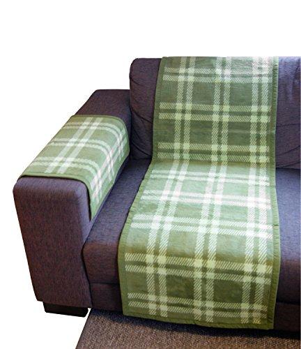 Ibena Sofaläufer Baumwollmischung grün Größe 50x200 cm