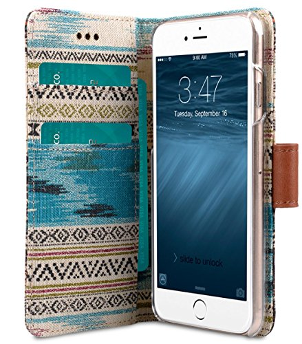 Apple Iphone 6S Plus / 6 Plus Melkco Tribe Series PU Wallet Case Style de livre Porte-monnaie Support Mode élégant étui, multifonctions Brun / Kaki