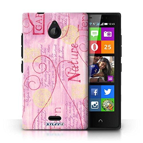 Kobalt® Imprimé Etui / Coque pour Nokia X2 Dual Sim / Jaune conception / Série Motif Nature Rose / Jaune
