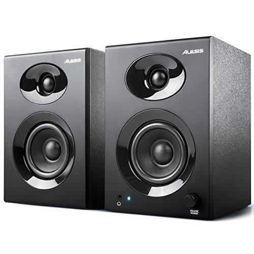 Alesis Elevate 3 MKII - Altoparlanti Attivi da Scrivania con Audio Professionale Per Home Studio, Editing Video, Gaming e Dispositivi Portatili