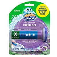 Scrubbing Bubbles Fresh Gel Toilet Bowl Cleaning Stamps, Gel Cleaner, Helps Prevent Limescale and Toilet Rings, Lavender Scent, 6 Stamps