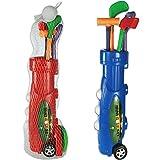 Plastic Caddy Set da Golf Trolley (9 Pezzi) Gioco Bambini