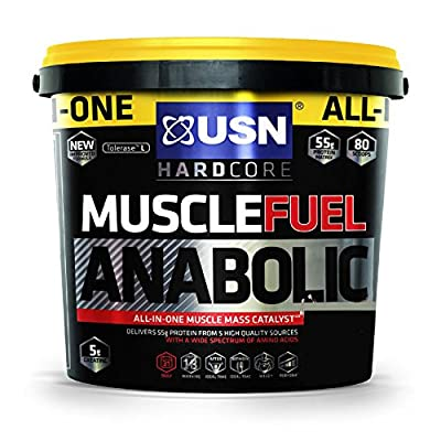 USN Muscle Fuel Anabolic Lean Muscle Gain Shake Powder, 4 kg, Chocolate Orange from USN