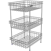 Amazing Mall Stainless Steel Multipurpose Storage Rack/Shelf, Kitchen Rack - Triple (Stand)