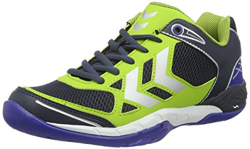 Hummel Omnicourt Z4 -  Scarpe Sportive Indoor Unisex Adulto, colore verde (surf the web), taglia 44 EU (9.5 UK)