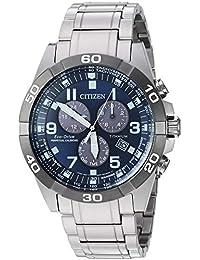 Citizen Men's Eco-Drive Quartz Titanium Strap, Silver, 21 Casual Watch (Model: BL5558-58L)