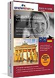Deutsch lernen für Albaner - Basiskurs zum Deutschlernen mit Menüführung auf Albanisch