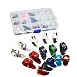 #1: TOYMYTOY Finger Pick Thumb Pick Set Guitar Picks with 15 Grid Case Storage Box -15pcs