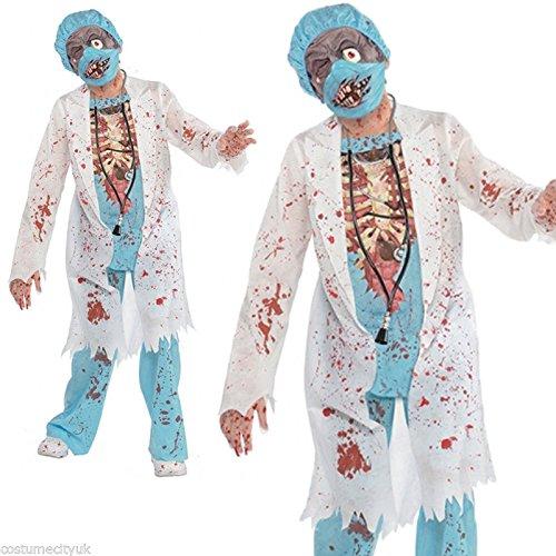 Zombie Arzt Kostüm Kinder Gr 134