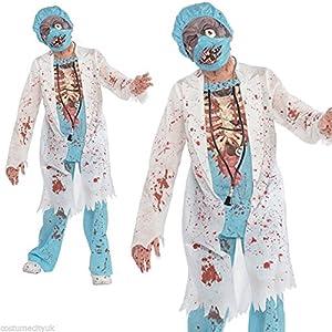 Christys London Disfraz Doctor Zombie para niños y Adolescentes en Varias Tallas Halloween