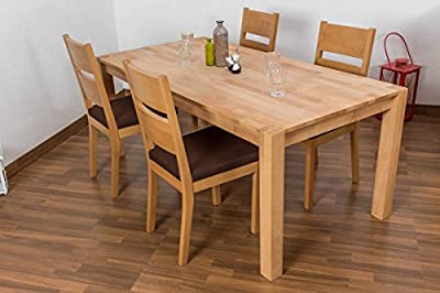 Dining Table Bern, heartwood beech, oiled - 75,5 x 160 x 90 cm