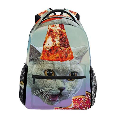 HGQHXY.U Katze isst Kekse Rucksack Schultasche Reisetasche für Jungen Mädchen