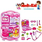 #7: Happy GiftMart Pretend Role Play Doctor Set for Kids and Toddlers (Suit Pink 15 Pcs)