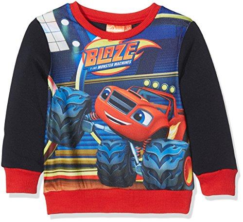Nickelodeon blaze monster truck felpa, blu (navy 19-4010tc), 7-8 anni bambino