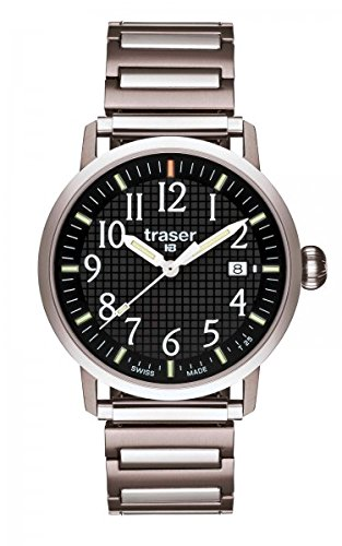 Traser H3 Classic Basic Black T4102.240.A2.01, Armband:S-M 13.5 cm