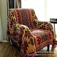 YHUJH Home Cordón de algodón Puro Cable Trenzado e Hilo de algodón Manta de sofá Toalla