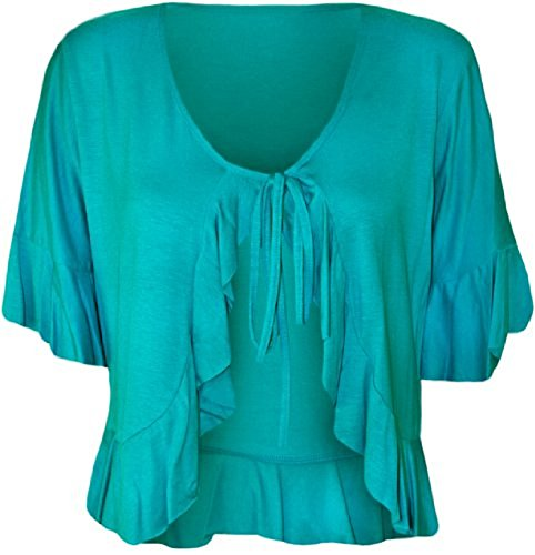 Comfiestyle - Top à manches longues - Cardigan - Femme Turquoise
