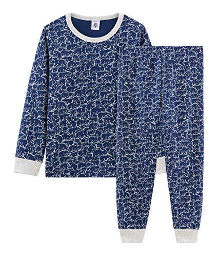 Petit Bateau Jungen Pyjama_5006201 Zweiteiliger Schlafanzug, Mehrfarbig (Major/Marshmallow 01), 152 (Herstellergröße: 12ans/152cm)