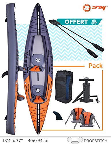 Inflatable Kayak 2 persons Floor Drop Stitch + laminated PVC Zray NASSAU 406 x 94 cm