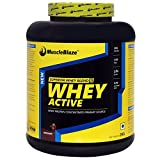 MuscleBlaze Whey Active Protein Supplement Powder - 4.4 lb/ 2 kg, 60 Servings (Chocolate)