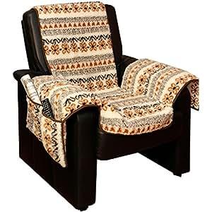 wunderbar flauschiger sesselschoner relax 147 cm x 147 cm mit armlehnen und taschen aus. Black Bedroom Furniture Sets. Home Design Ideas