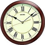 Seiko - Orologio analogico da parete, in legno marrone, QXA597A