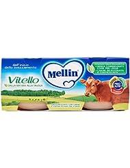 Mellin Vitello Omogeneizzato con Carne e Farina di Riso - 2 Vasetti da 80 gr