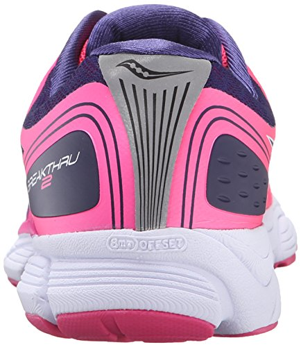 Saucony Breakthru 2 Women's Laufschuhe - AW16 Pink (Pink/Navy Blau/Weiß)