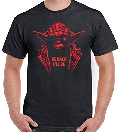 I'll Be Back Funny Yoda Terminator Men's T-shirt