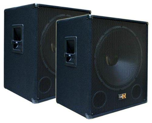 "2x 1000W DJ PA Subwoofer Boxen Paar 18"" Passiv Bass Lautsprecher - E-Lektron SUB-P45"