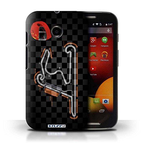 Kobalt® Imprimé Etui / Coque pour Motorola Moto E (2014) / Singapour conception / Série 2014 F1 Piste Chine/Shanghai