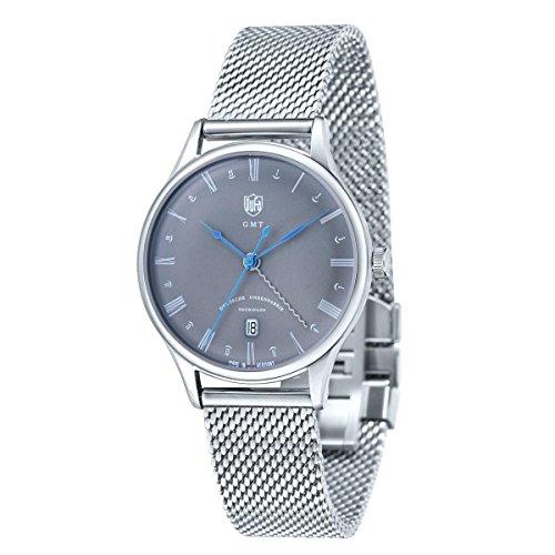 DuFa Unisex Analog Quarz Uhr mit Edelstahl Armband DF-9006-11