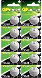 Batterien CR2450 3V Lithium Knopfzellen CR 2450 (3 Volt) 10 Stück Knopfbatterien (GP Batteries Markenware)