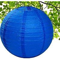 """Winbang Linterna de papel, 1pc linterna de papel china redonda Linterna colgante para el banquete de boda del cumplea?os regalo de la decoraci¨n del arte DIY, 16"""" Dark Blue"""