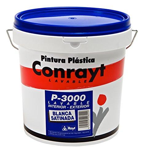 RAYT-CONRAYT P-3000 SATINADA - 408-28 Pintura plástica blanco satinada, interior-exterior - 10 lt