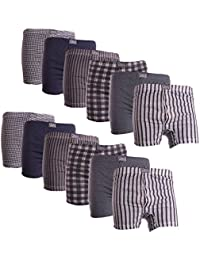 12pairs Mens Cotton Blend Printed Pattern Boxer Shorts Underwear Boxers Underwear Size 3XL