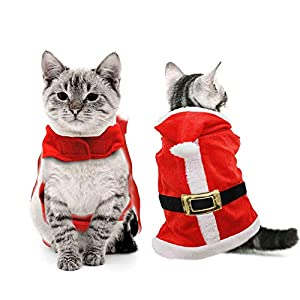 HusDow-Christmas-Pet-Costume-Cat-Santa-Costumes-Adjustable-and-Warm-Christmas-Outfit-for-Cats-Kitten-and-Small-Dogs