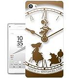 459 - Vintage Clock Alice in Wonderland Design Sony Xperia Z5 Compact / Mini Fashion Trend Protecteur Coque Gel Rubber Silicone protection Case Coque