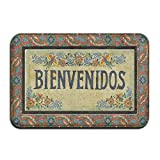 YSEFHX Bienvenidos Vintage 39,9x 59,9cm saugfähig Rutschfeste Boden Teppich Teppich Fußmatte