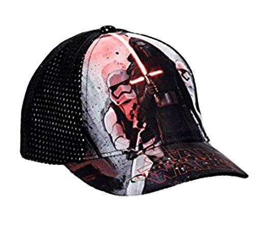 Star Wars Disney Jungen Cap Kappe Schirmmütze (52, Schwarz 2)