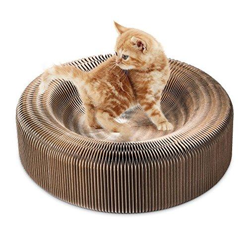 TOOGOO Tragbarer Kratzer der Katze Salon zusammenklappbare Karton Kratzer Spielzeug Tafel vom Kratzen der Katze Katzen Turbo Spielzeug (Katze Spielzeug Turbo Scratcher)