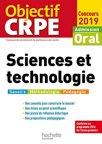 Objectif CRPE Sciences et technologie 2019 par Jack Guichard