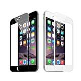 ikazen Full Screen Coverage Curved Edge Tempered Glass Screen Protector for iPhone 7 Plus - Black