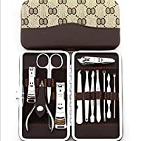 12 in1 Manicure Set Stainless Nail Clipper Kit Nail Care Set Nail Clippers for Girls