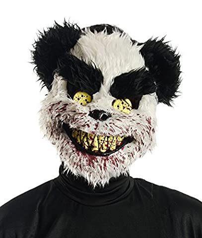 New Halloween Party Horror Teddy Mask Adults Scary Fancy Dress Costume Accessory by Palmers