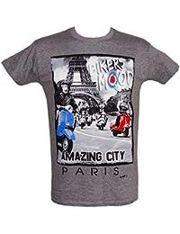 Souvenirs de France -T-Shirt Homme Paris 'Amazing City' - Gris